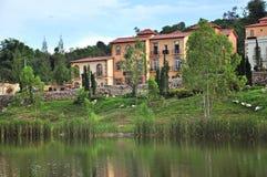 Toscana dalhus Arkivbild