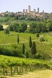 Toscana, gimignano de san fotografía de archivo libre de regalías