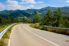 Toscana, Italy. Italian road in Toscana region stock photos