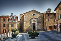 Toscana - Montalcino. Piazza in Montalcino in Italy Royalty Free Stock Image