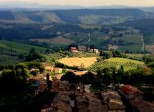 Toscana_san_gimignano imagenes de archivo