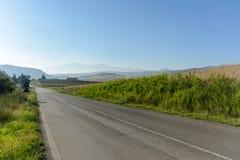Toscana väg Arkivfoton