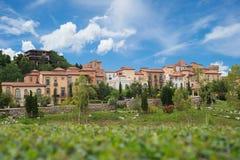 Toscana Valley. City blue sky toscana nature Stock Images