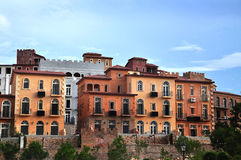 Toscana Valley Housing. Italian style of Building at Hillside Stock Photo
