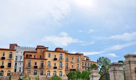 Toscana Valley Housing. Italian style of Building at Hillside royalty free stock photo