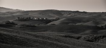 Toscanië B/W Stock Afbeelding