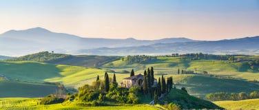 Toscanië bij de lente Stock Foto