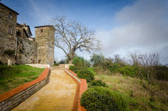 Toscanië - Castellina in Chianti royalty-vrije stock afbeelding