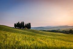 Toscanië, de lentelandschap Royalty-vrije Stock Foto