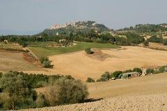 toscanië De Vallei van Vald ` Orcia stock fotografie