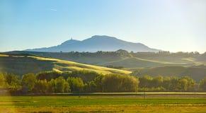 Toscanië, die zon gelijk maken Stock Foto