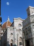 Toscanië, Florence, de Centrale voorgevel van de Kathedraal stock afbeelding