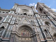 Toscanië, Florence, decoratie van de Kathedraal van Santa Maria stock fotografie