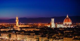 Toscanië Florence Panorama royalty-vrije stock foto
