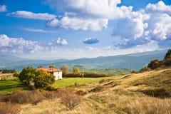 Toscanië, Heuvels tijdens de Herfst Stock Afbeeldingen