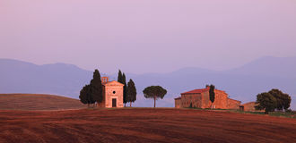 Toscanië - Kapel Stock Afbeelding