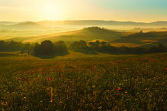Toscanië, landschap in centraal Italië royalty-vrije stock foto