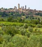 Toscanië, Sangimignano Royalty-vrije Stock Fotografie