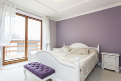 Toscanië - slaapkamer stock afbeelding