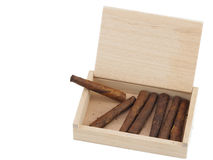 Toscano cigars in the box Stock Image