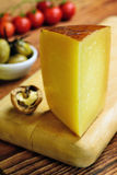 Toscano Pecorino, ιταλικό τυρί προβάτων, χαρακτηριστικό της Τοσκάνης Στοκ φωτογραφία με δικαίωμα ελεύθερης χρήσης