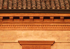 Toscany Roof Close up. Toscany (Italy) Roof-attic and capital close up Picture during the sunset Stock Image