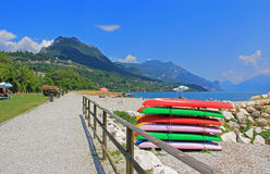 Toscolano beach, garda lake, Italy Stock Photo