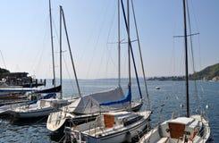 Toscolano-Maderno,加尔达湖,意大利 库存照片
