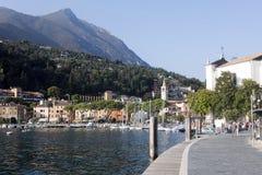 Toscolano Maderno, Lago di加尔达意大利看法  库存照片