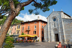TOSCOLANO-MADERNO, ITALY - SEPTEMBER 18, 2016: Beautiful views of Toscolano-Maderno, a town and comune on the West coast of Lake G Stock Photos