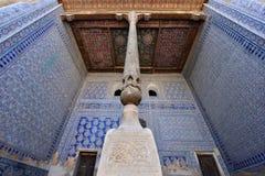 Khiva, Uzbekistan, Silk Route. TOSH-HOVLI, KHIVA, UZBEKISTAN - 02 MAY 2019: Most sumptuous interior decoration of the Tosh-Hovli palace in Khiva in the Silk Road stock photos