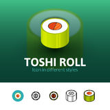 Toshi roll icon in different style Royalty Free Stock Photos