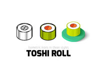 Toshi roll icon in different style Stock Photos