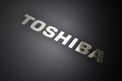 Toshiba laptop logo Royalty Free Stock Images