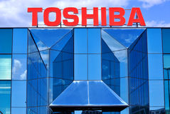 Toshiba-Logo Lizenzfreies Stockbild