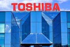 Toshiba logo Royalty Free Stock Image