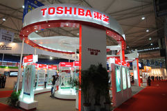 Toshiba-Stand Stockbilder