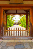 Toshodai-Ji Temple Entrance Doorway Path Nara V Stock Photos