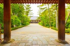 Toshodai-Ji Temple Entrance Pillars Pathway Nara H Royalty Free Stock Photography