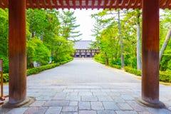 Toshodai-Ji Temple Entrance Pillars Pathway Nara  Stock Images
