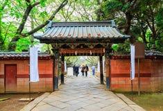 Toshogu寺庙入口在上野公园在东京,日本 免版税图库摄影