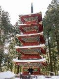 Toshogu寺庙的,日光塔 图库摄影