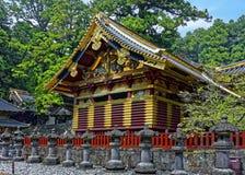 Toshogu寺庙,日光,日本 横向孔雀夏天视图 免版税库存照片