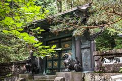 Toshogu Shrine, Nikko, Tochigi Prefecture, Japan. Toshogu shrine is the final stop of the Tokugawa family which was built by the Tokugawa Shogunate 250 years ago royalty free stock image