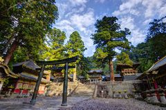Toshogu Shrine. In Nikko, Japan holds the remains Ieyasu Tokugawa, the third and last Shogunate of Japan Royalty Free Stock Photo