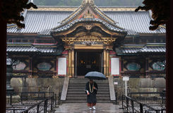 Toshogu Shrine, Nikko, Japan. Oshogu Shrine is the burial place of Tokugawa Ieyasu, the founder of the Tokugawa Shogunate that ruled Japan for over 250 years stock photo
