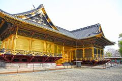 The Ueno Toshugu Shrine in Ueno Park, Tokyo, Japan royalty free stock image