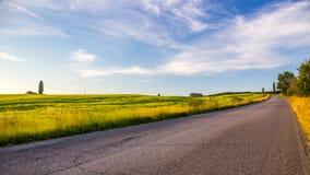 Toskański ranku krajobraz Zdjęcia Stock