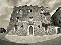 Toskana-antico palazzo manciano stockfoto