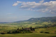 Toskana-Bauernhoflandschaft Stockbilder